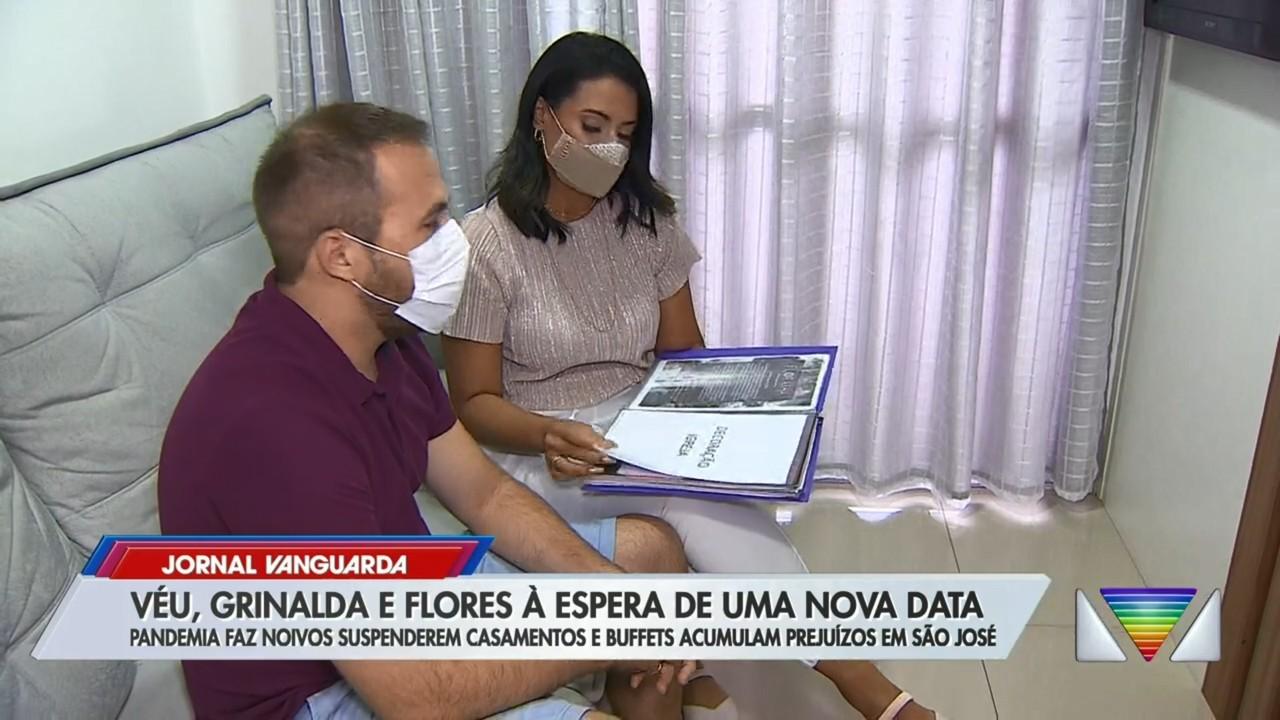 Pandemia faz noivos adiarem casamento e buffets acumulam prejuízos em São José dos Campos