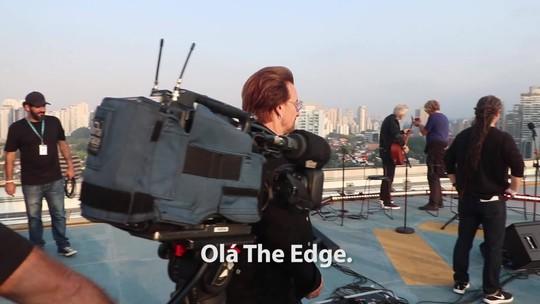 Exclusivo web: veja os bastidores do show do U2 para o Fantástico