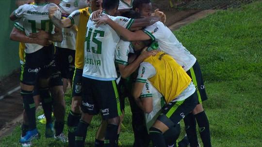 O gol de Guarani 0 x 1 América-MG pela 37ª rodada do Brasileirão