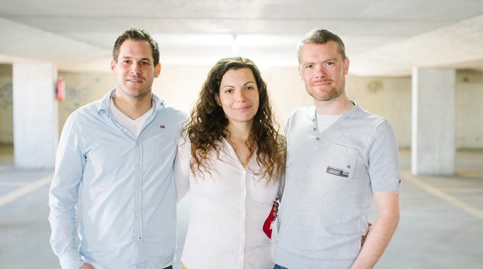 Thomas Pucher, Tihana Pintaric e Fabian Gutbrod, criadores do add-e (Foto: Divulgação/add-e)