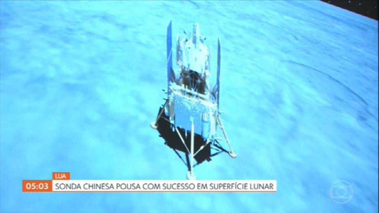 Sonda chinesa Chang'e-5 pousa com sucesso na Lua