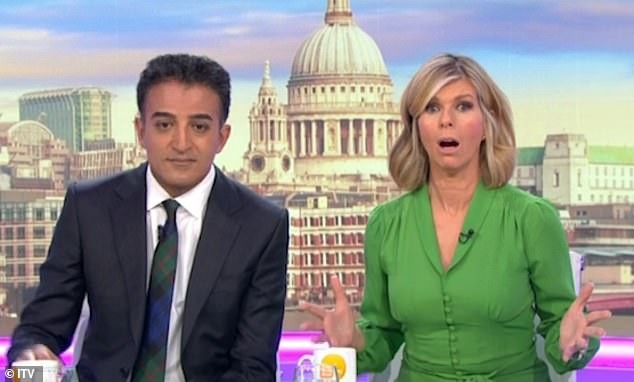 Os apresentadores do Good Morning Britain, Adil Ray e Kate Garraway (Foto: Divulgação)