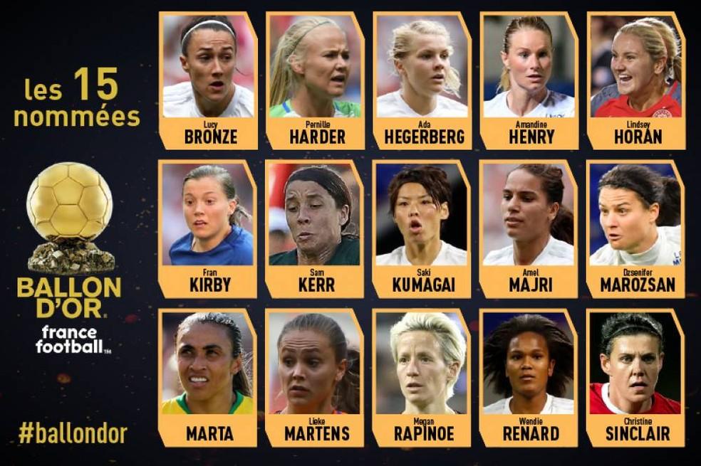 Marta concorre à Bola de Ouro — Foto: reprodução