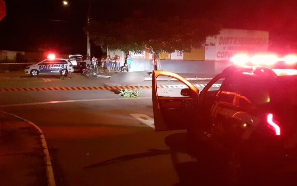 Motociclista morre após ser atropelado por caminhonete em cruzamento de Goiânia — Foto: Polícia Civil/Divulgação