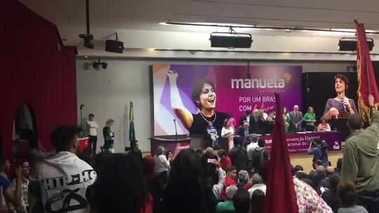 PCdoB oficializa candidatura de Manuela D'Ávila a presidente; deputada defende 'unidade' da esquerda