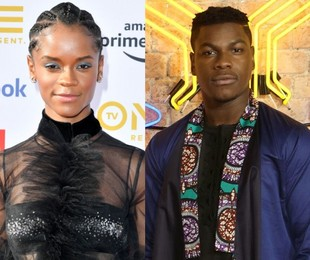 Letitia Wright e John Boyega  | AFP