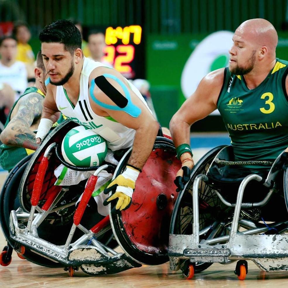 Julio Braz é atleta profissional de rugby para cadeirantes (Foto: Reprodução)