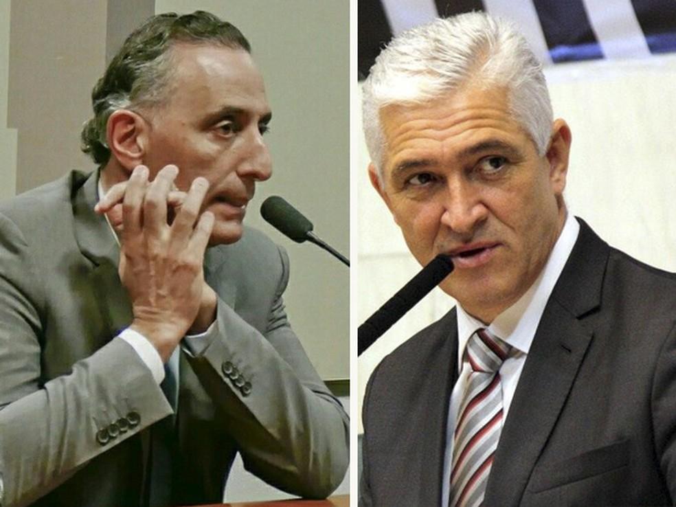 Deputados federais eleitos com reduto no Vale do Paraíba: Eduardo Cury (esquerda) e Milton Vieira  — Foto: Arquivo pessoal/ Arte G1