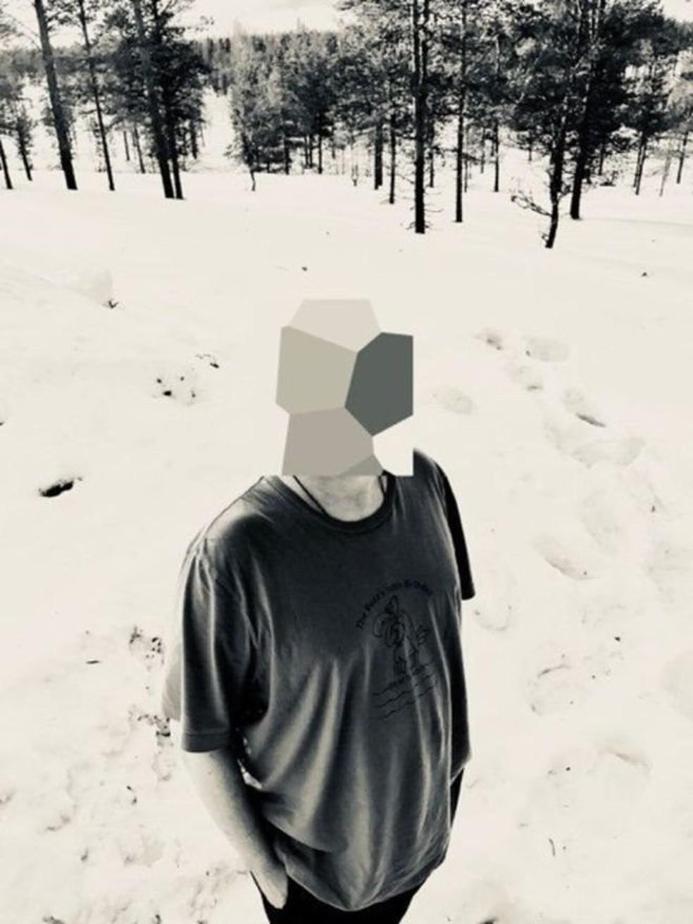 Jonathan Hirshon até tirou uma foto sua em Lapland, na Finlandia, mas escondeu o rosto (Foto:  Jonathan Hirshon)