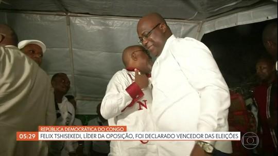 Líder da oposição na República Democrática do Congo é declarado vencedor das eleições