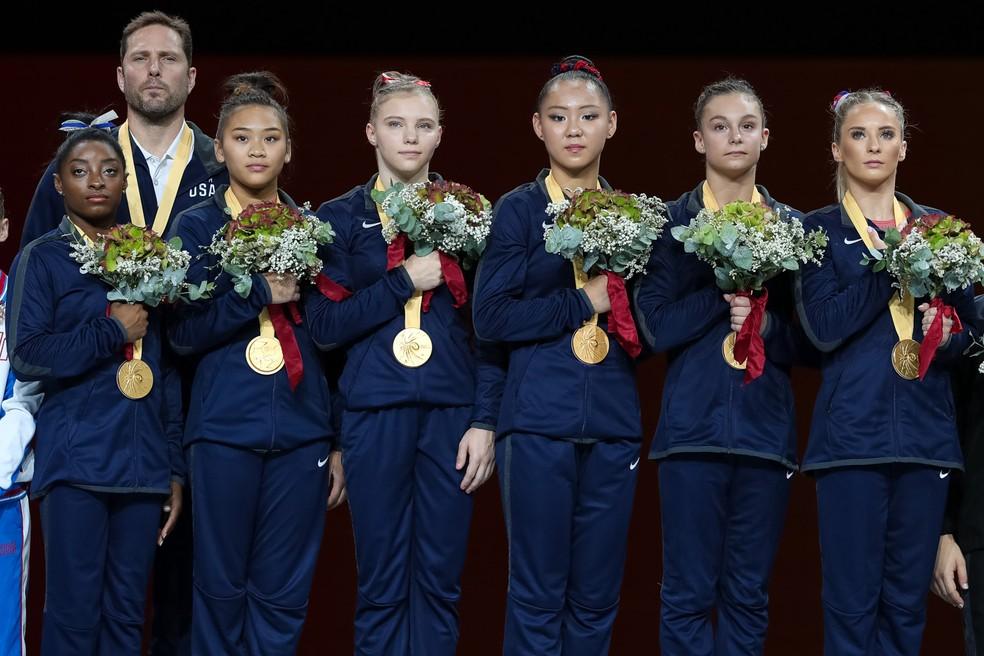 Simone BIles lidera EUA ao ouro no Mundial — Foto: Ricardo Bufolin/ Panamerica Press/ CBG