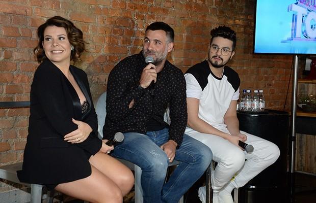 Fernanda Souza, o diretor Raoni Carneiro e Luan Santana (Foto: Francisco Cepeda/AgNews)