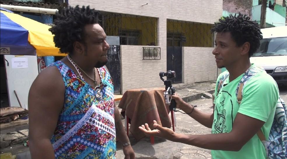 O 'Vumbora' visita a comunidade da Avenida San Martin (Foto: TV Bahia)