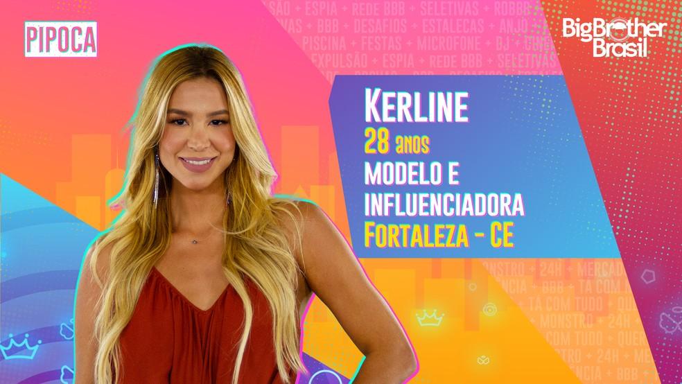 Kerline é participante do 'BBB21' — Foto: Divulgação/Globo