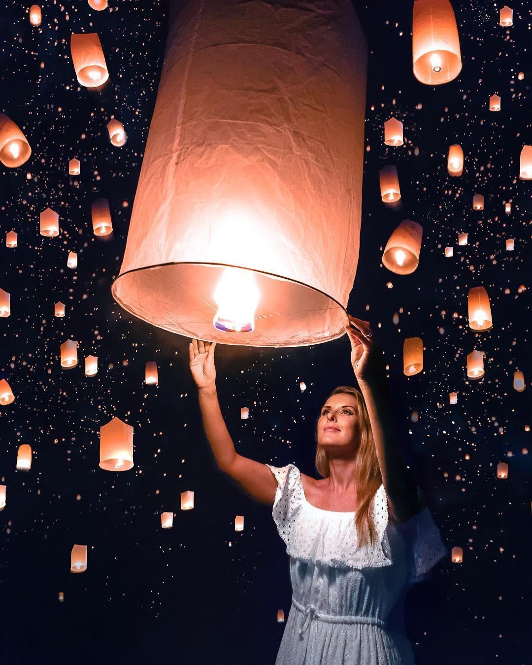 Festival das lanternas, tradição na Tailândia (Foto: Reprodução / Instagram / @agirlwhoblooms)