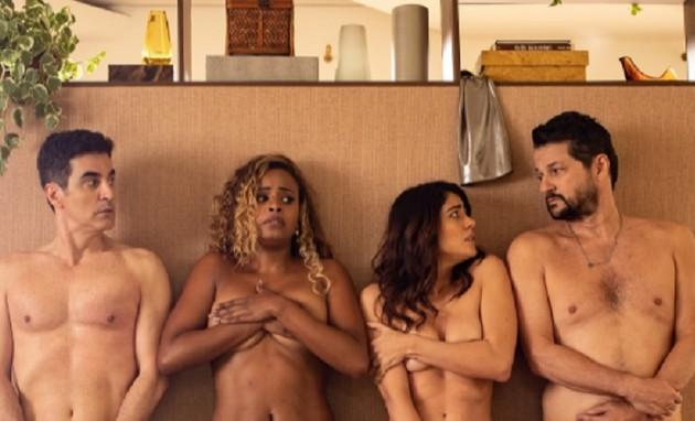 Marcelo Laham, Roberta Rodrigues, Carol Castro e Marcelo Serrado (Foto: Reprodução/Globo)