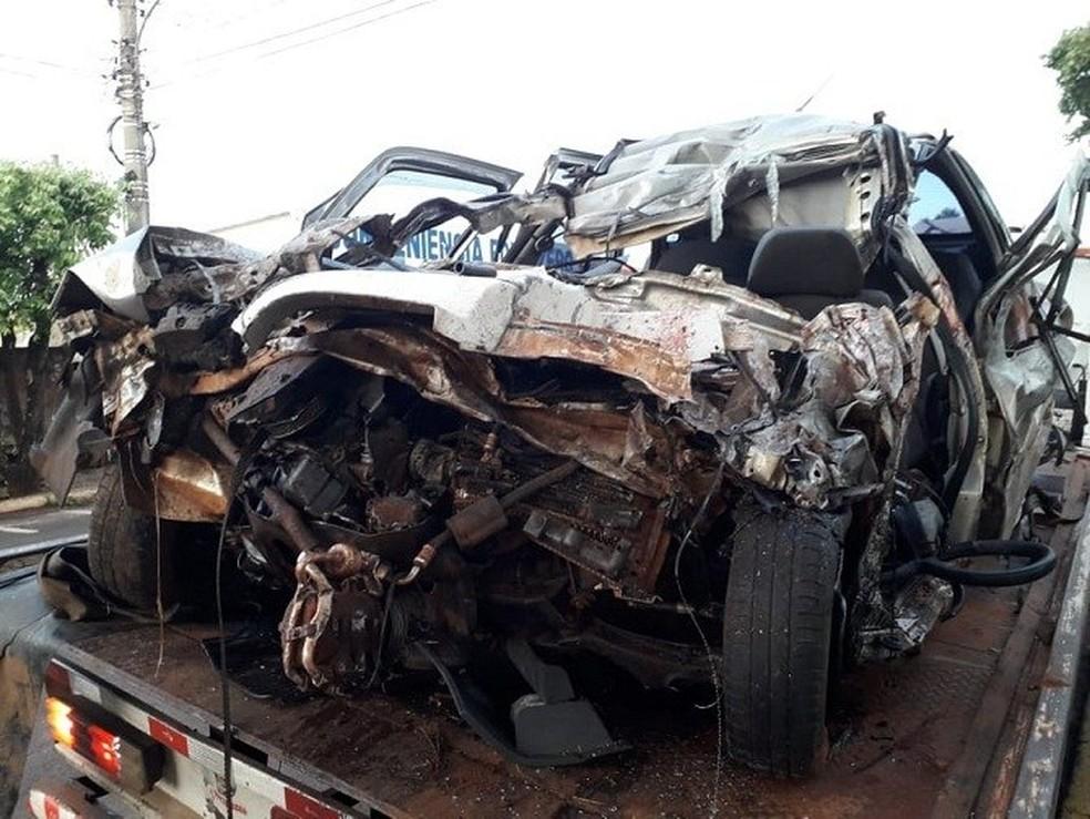 Quatro pessoas da mesma família morre em acidente na BR-158, em MS. — Foto: Edson Martins/Reprodução