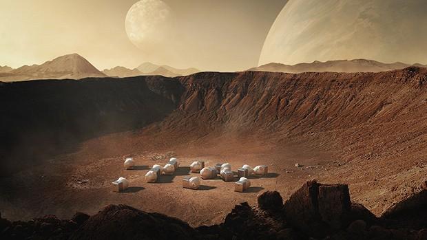 Escritório de arquitetura desenvolve cápsula para viver em Marte (Foto: Xiaomi/Divulgação)