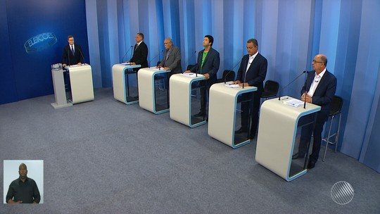 Cinco candidatos ao governo do estado participam de debate na TV Bahia
