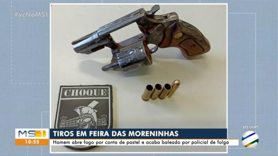 Homem se revolta e atira depois de não ganhar pastel em feira da Capital