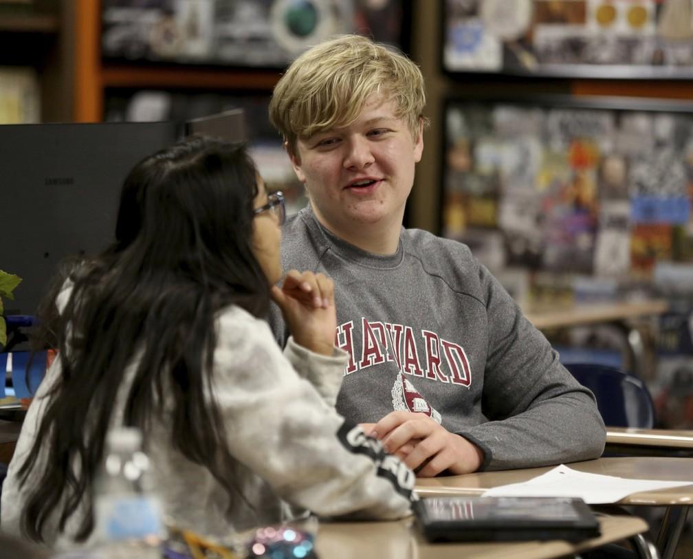 Braxton Moral é natural do Kansas e cursou disciplinas em Harvard nas férias de verão.  — Foto: Sandra J. Milburn/The Hutchinson News/AP