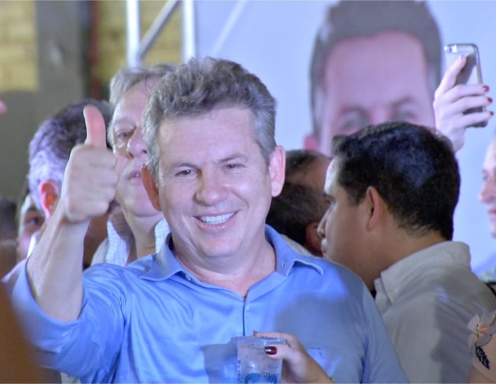 Mauro Mendes teve a candidatura oficializada pelo DEM  (Foto: TVCA/ Reprodução)