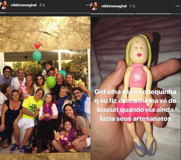 Nikki Meneghel, sobrinha de Xuxa, faz posts após morte da avó paterna, dona Alda (Foto: Reprodução/Instagram)