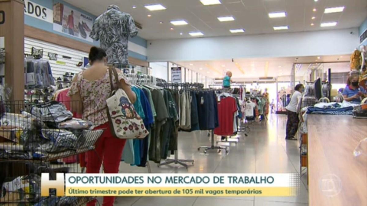 Varejo e serviços devem abrir 105 mil vagas de emprego para o fim de ano, diz pesquisa da CNDL e SPC Brasil