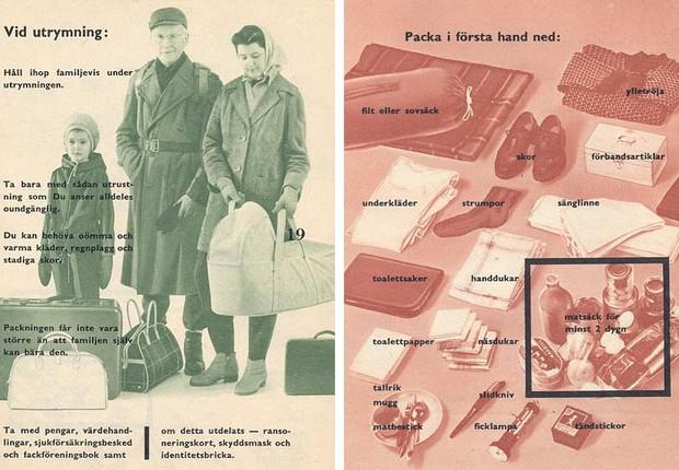 Uma das edições do Om kriget kommer, guia de guerra distribuído para cidadãos suecos (Foto: Wikimedia Commons)
