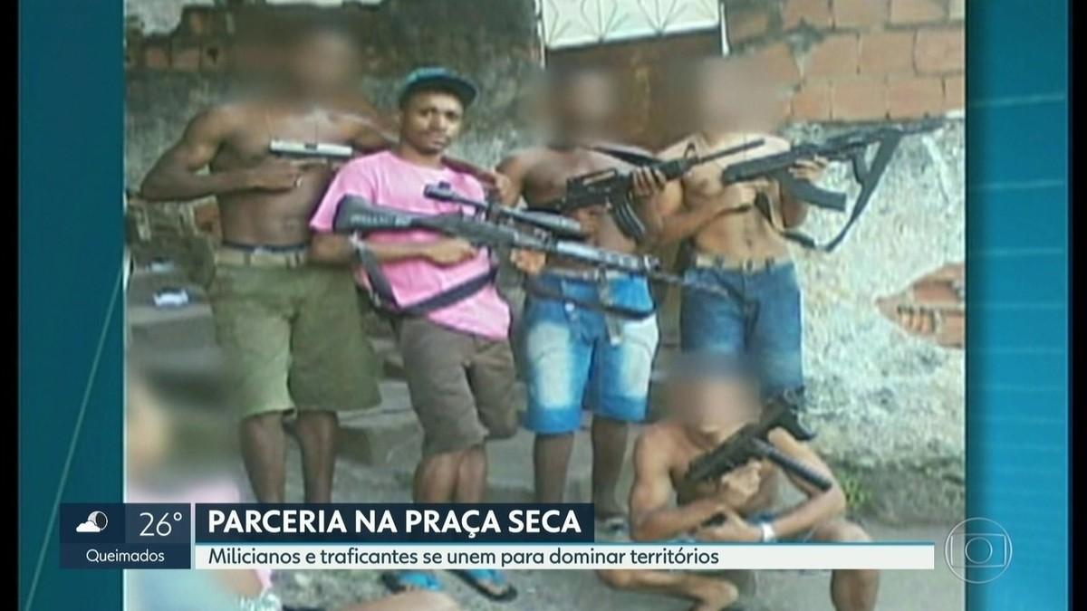 Relatório da polícia aponta que já houve parceria entre milícia e tráfico para controlar a Praça Seca – G1