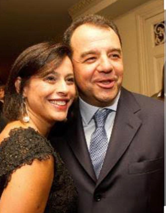Justiça nega pedido de Adriana Ancelmo (na foto, ao lado de Sérgio Cabral)