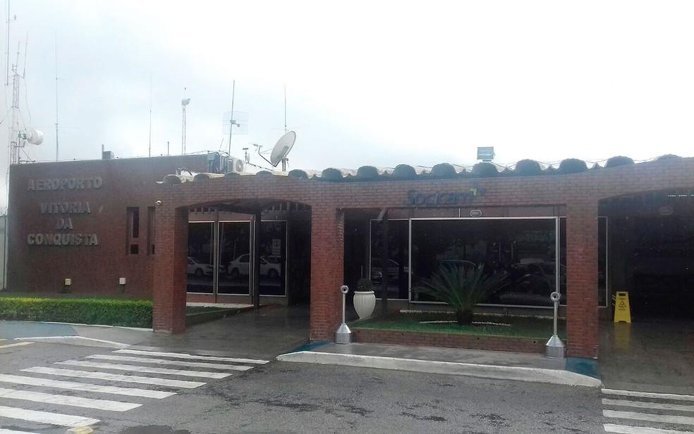 Aeroporto de Vitória da Conquista (Foto: Carolina Pimenta/TV Bahia)