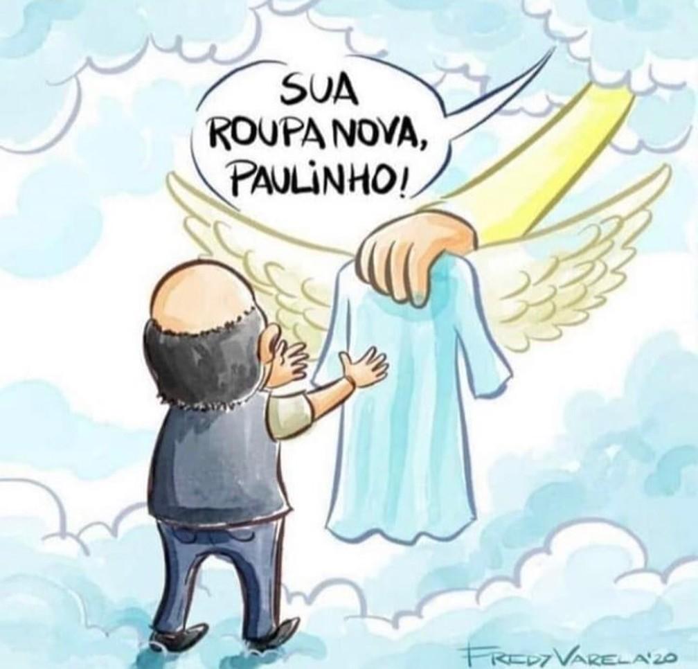 Twigg compartilha ilustração de Fredy Varela em homenagem ao pai, o cantor Paulinho, do Roupa Nova — Foto: Reprodução/Instagram