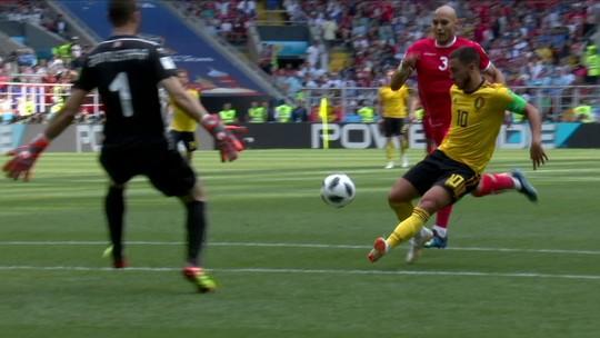 Assista aos gols da goleada da Bélgica sobre a Tunísia