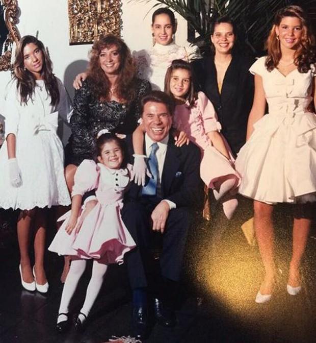 Silvio Santos e a família reunida (Foto: Reprodução/Instagram)