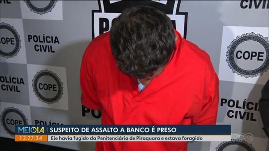 Suspeito de integrar quadrilha especializada em roubo a banco é preso, em São José dos Pinhais
