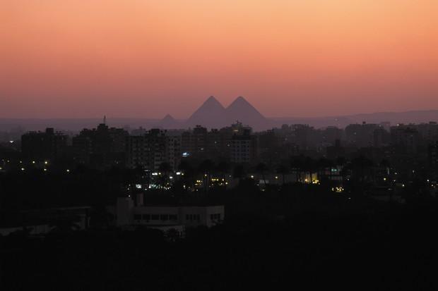 Vista para o Egito da experiência (Foto: reprodução)