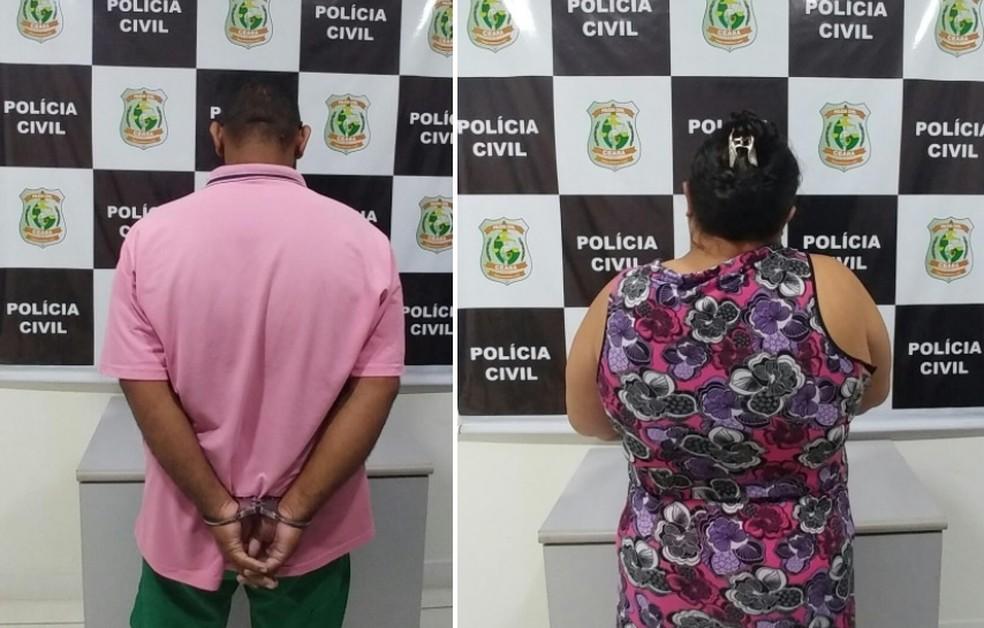 Pais foram presos em Fortaleza, onde moravam há seis anos (Foto: Polícia Civil/Divulgação)
