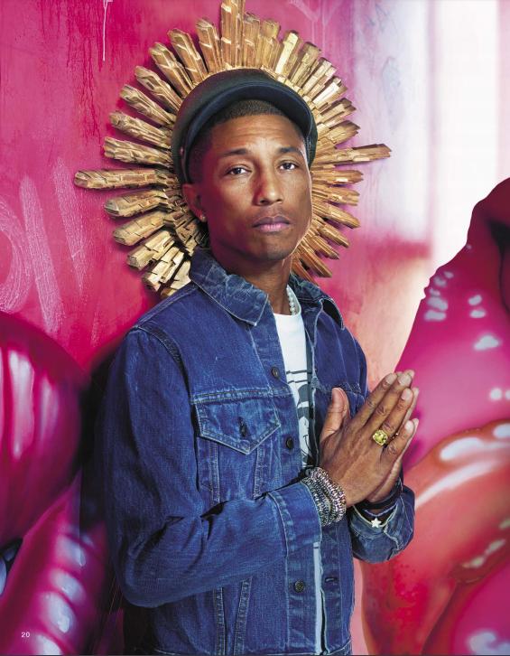 Imagem do artista Pharrell Williams, com uma temática religiosa (Foto: Divulgação)