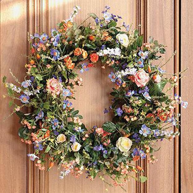 Guirlandas: Plantas e flores coloridas! (Foto: Pinterest/Reprodução)