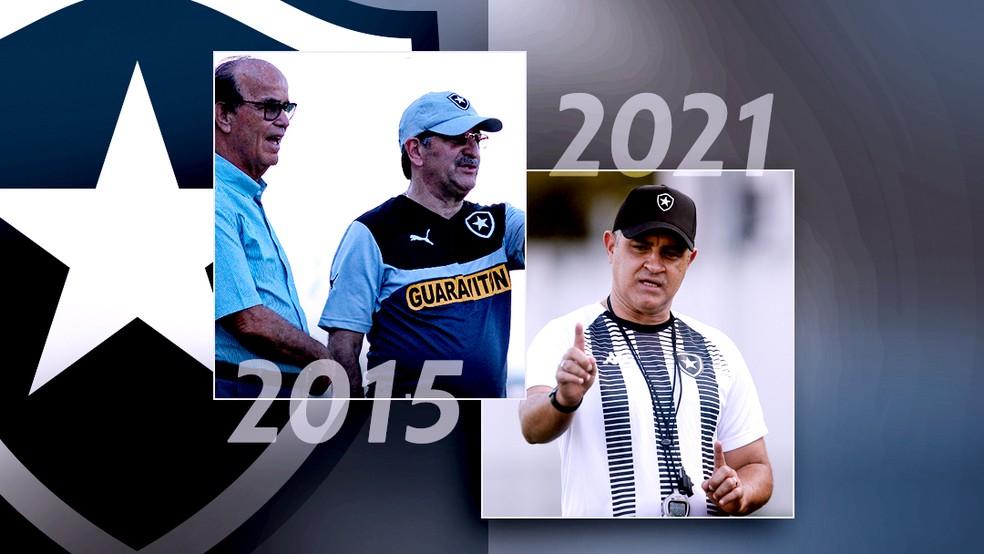 Carrossel Botafogo 2015 Botafogo 2021 — Foto: ge