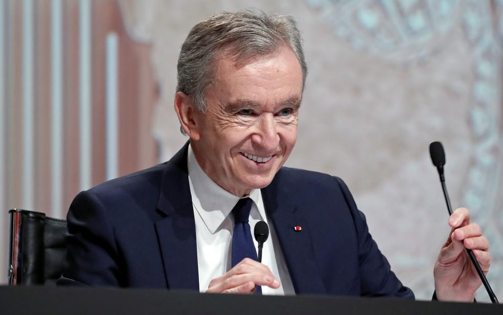 Bernard Arnault, CEO do grupo LVMH — Foto: Reuters/Benoit Tessier