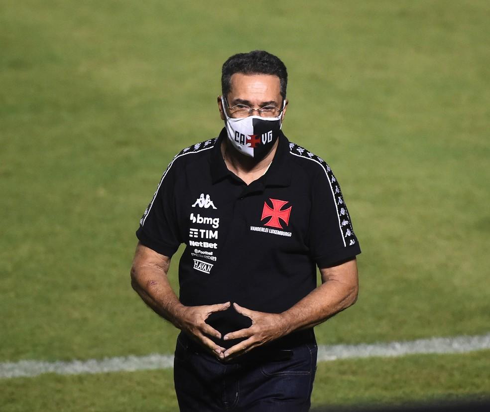 Vasco x Botafogo: Vanderlei Luxemburgo é o técnico do Vasco — Foto: André Durão