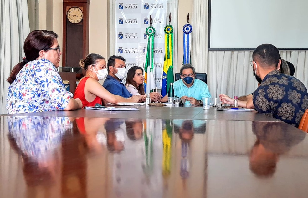 Reunião aconteceu na sede do Executivo local — Foto: Divulgação