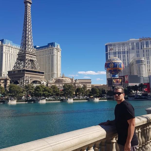 Solteiro, Thiago Martins curte férias em Las Vegas (Foto: Reprodução/Instagram)