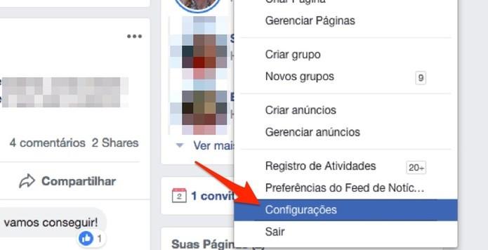 Visualize opções para uma conta do Facebook (Foto: Reprodução/Marvin Costa)