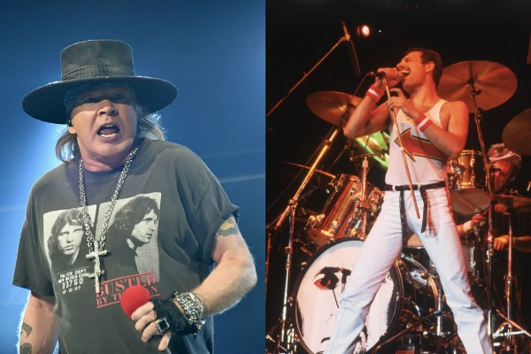 Axl Rose e Freddie Mercury  (Foto: Getty Images)