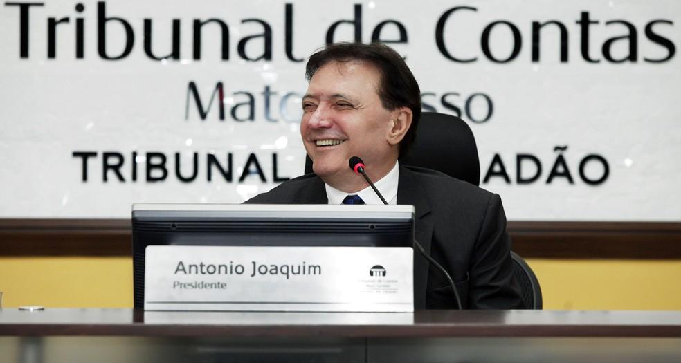 -  Conselheiro Antônio Joaquim foi afastado do cargo no TCE-MT por determinação do ministro Luiz Fux, do Supremo Tribunal Federal  Foto: TCE-MT/Assessor