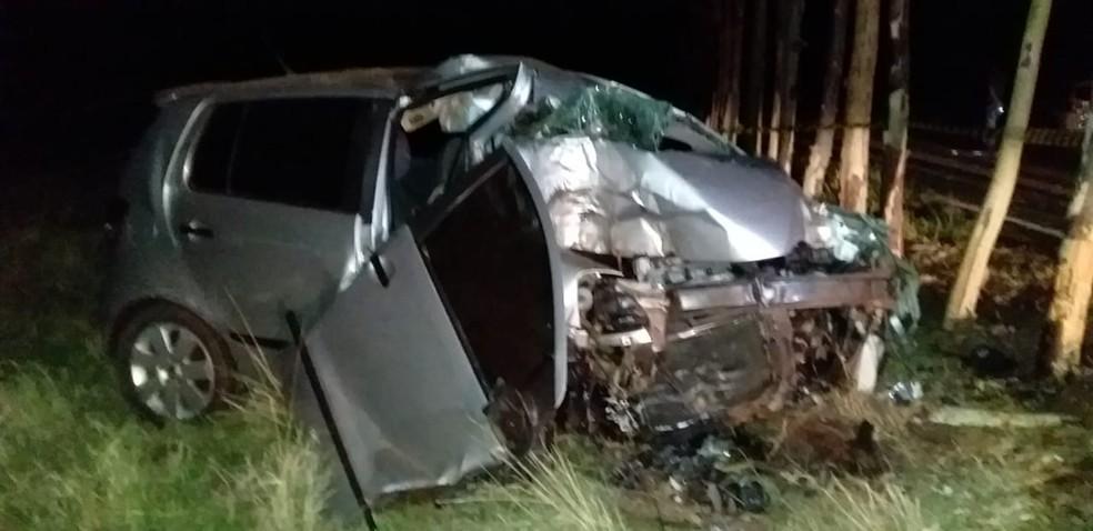 Acidente ocorreu em uma estrada vicinal, em Osvaldo Cruz — Foto: Cristiano Nascimento/Rádio Metrópole FM/Cedida