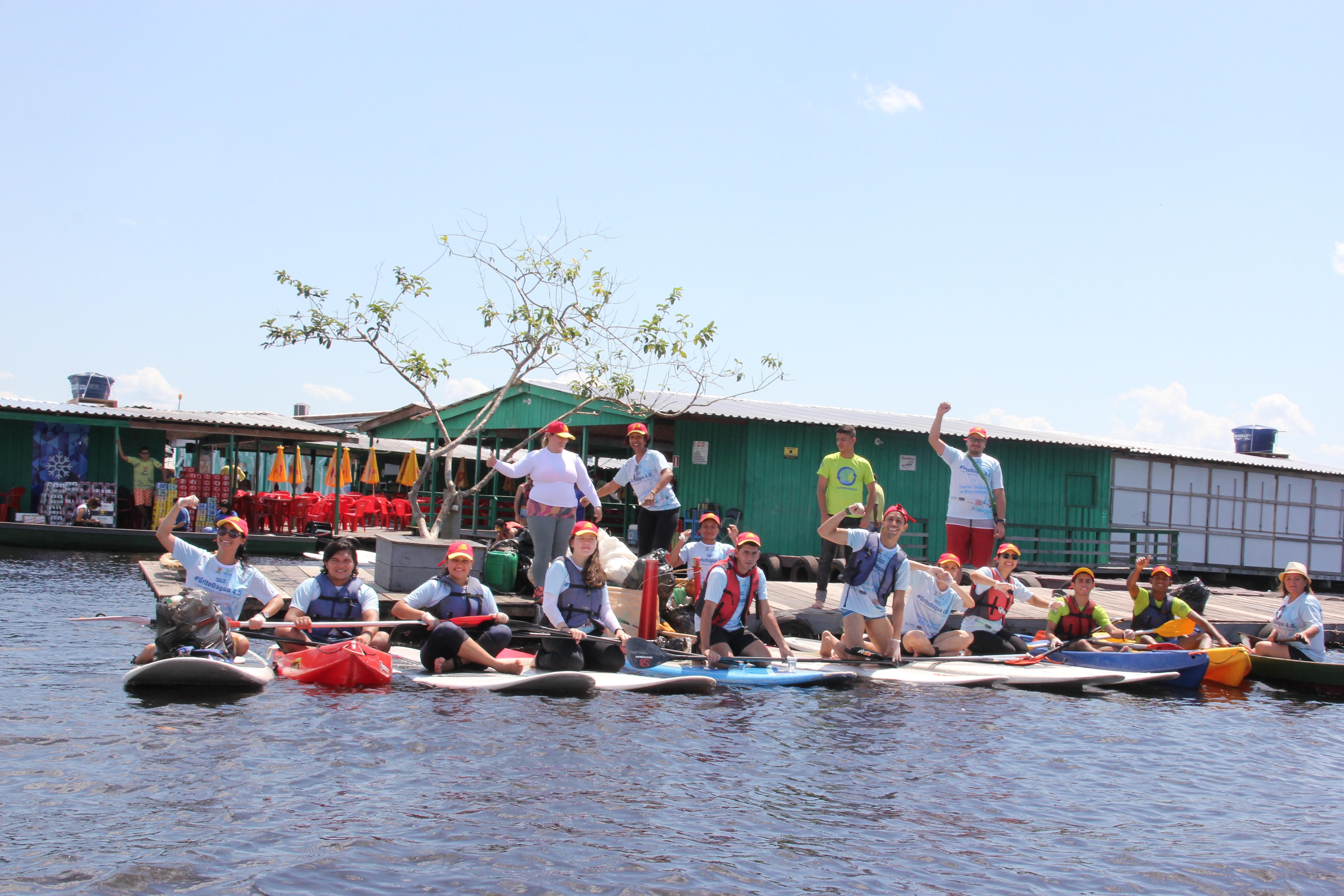 Ação 'Grito D'água' reúne voluntários para limpeza do Lago Tarumã, em Manaus - Radio Evangelho Gospel